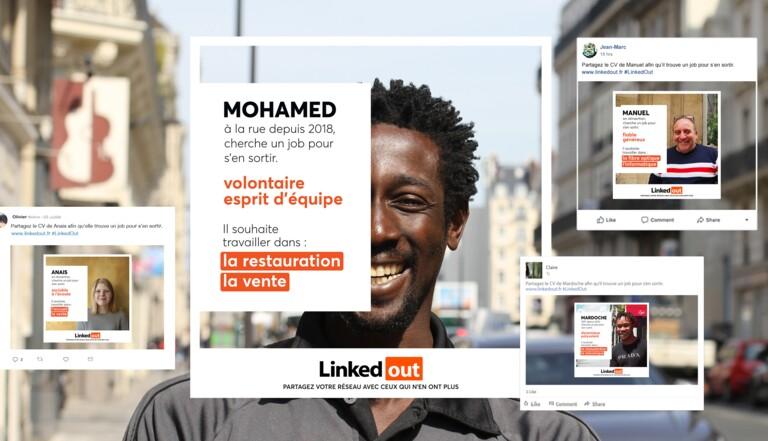 Avec LinkedOut, vous pouvez aider les sans-abris à trouver un boulot