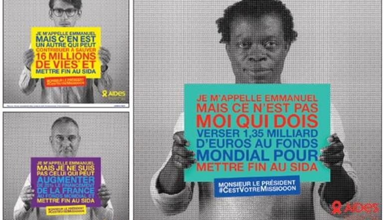 AIDES interpelle Emmanuel Macron dans une campagne percutante