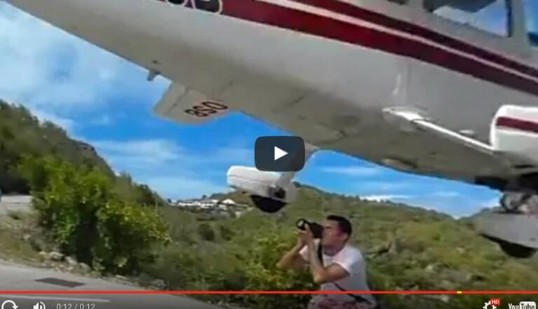 Il photographie l'atterrissage d'un avion et manque de finir décapité