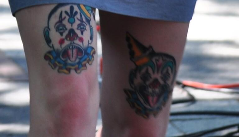 7 tatouages de clowns