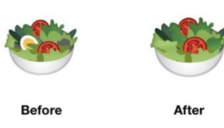 Le nouvel émoji salade « inclusif et vegan » de Google crée la polémique