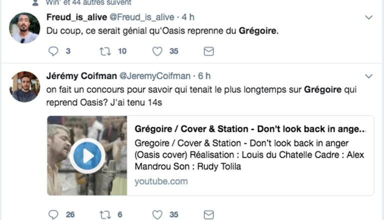 La reprise de Grégoire a fait mal aux oreilles des internautes
