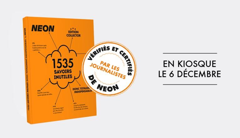Le livre collector des 1535 Savoirs Inutiles NEON, en kiosque le 6 décembre !
