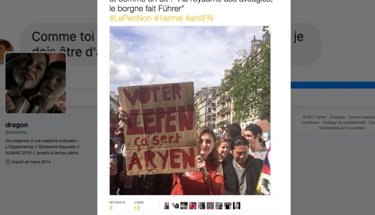 """""""Voter Le Pen ça sert aryen"""" : les meilleurs slogans de la manif anti-FN"""
