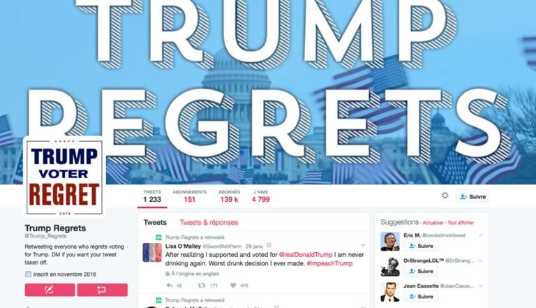 Trump Regrets : Sur Twitter, les électeurs de Trump s'en veulent (déjà)