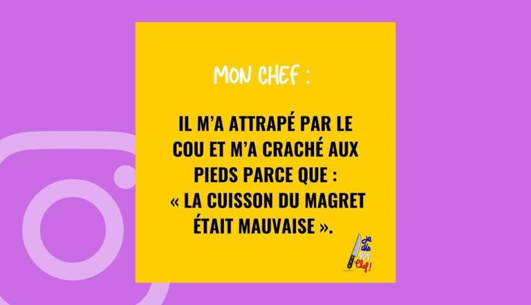 Je dis non chef, le compte Insta qui veut faire tomber les grands noms de la cuisine française