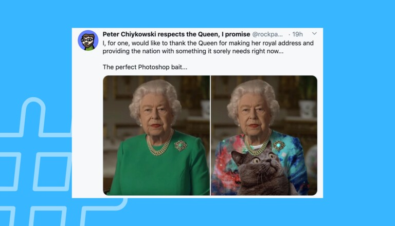 La robe verte d'ElizabethII inspire Twitter et les amateurs de Photoshop