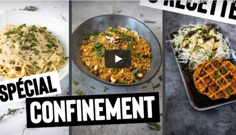 5 vidéos YouTube spécial confinement pour cuisiner vegan, simple, rapide et pas cher