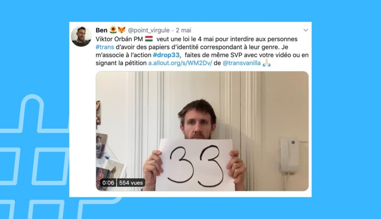 #Drop33 : un projet de loi hongrois s'attaque à la reconnaissance des personnes trans et mobilise Twitter