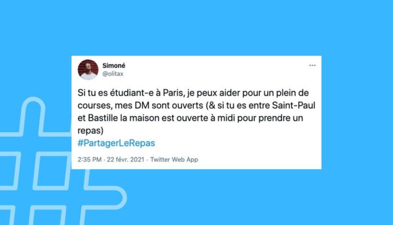 #PartagerLeRepas : sur Twitter, ils viennent en aide aux étudiants dans le besoin