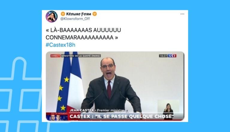 Powerpoint raté, confinement parisien et désespoir : la conférence de presse de Jean Castex vue de Twitter