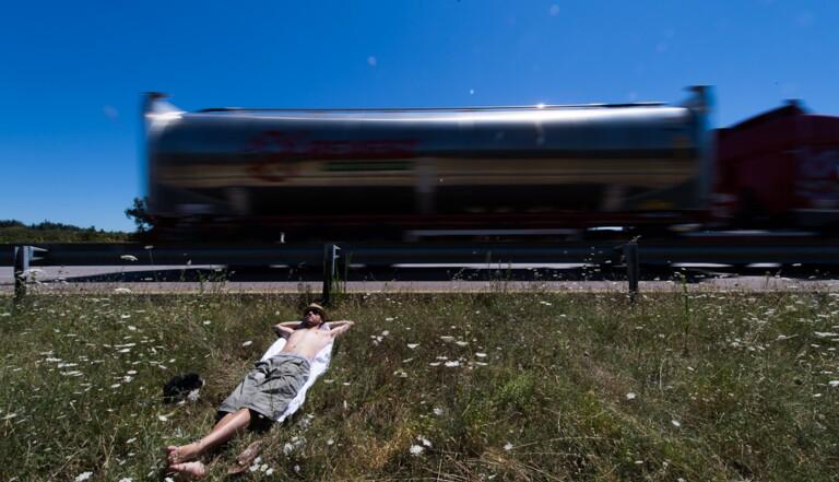 Expérience : 5 jours sur une aire d'autoroute