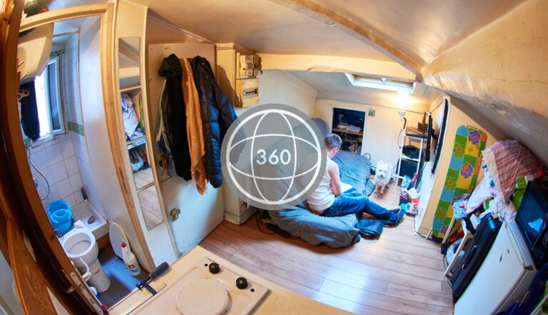 [PHOTOS 360°] Ils vivent dans moins de 9 mètres carrés et nous font visiter leur appartement