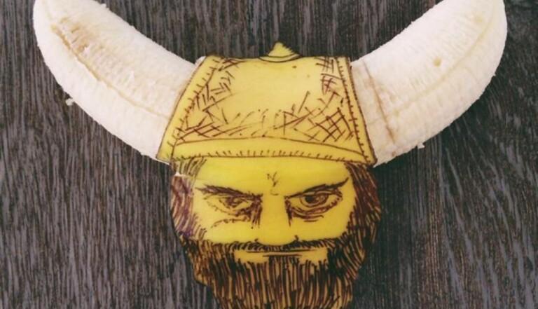 De l'art avec des bananes