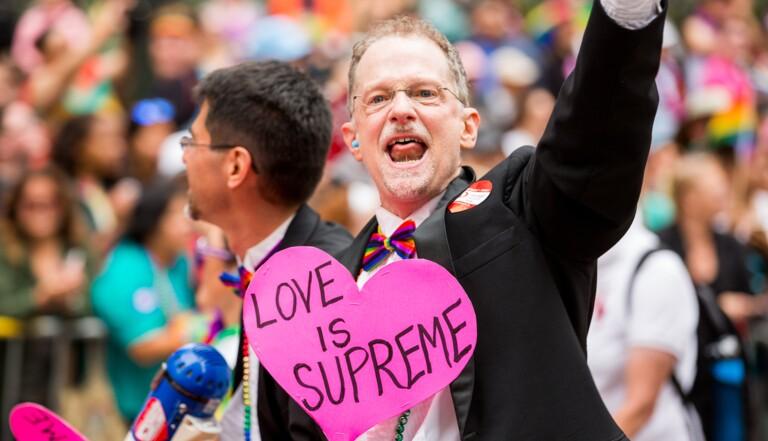 En images, la célébration du mariage pour tous aux USA