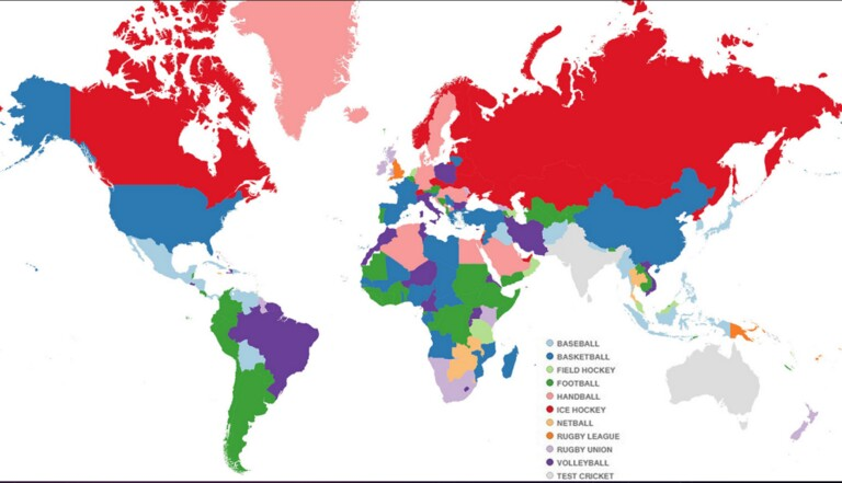 La carte du monde pour savoir dans quel sport chaque pays excelle