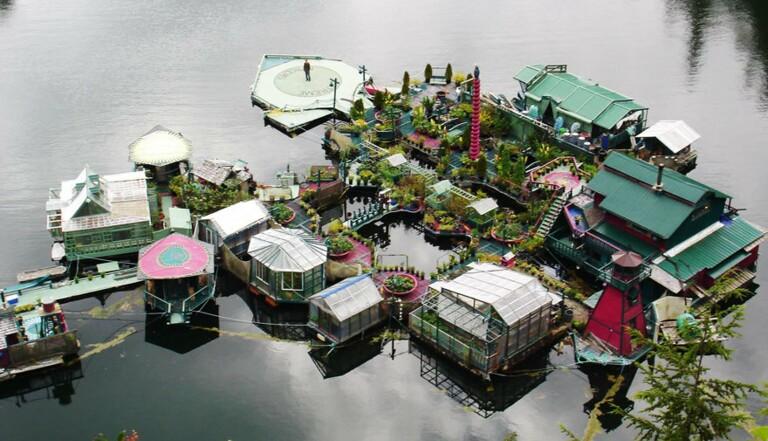 Vivre sur une île flottante
