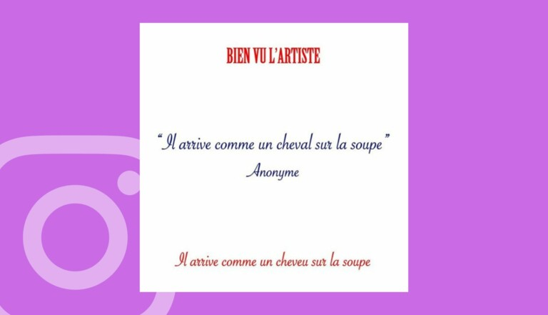 Bien vu l'artiste, le compte Instagram des expressions françaises ratées