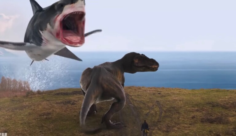 Nazis, requins-dragons et dinosaures : on adore le trailer du dernier Sharknado