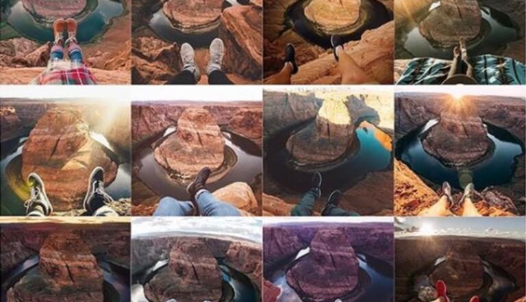 Insta Repeat : le compte qui souligne le formatage des photos de voyage