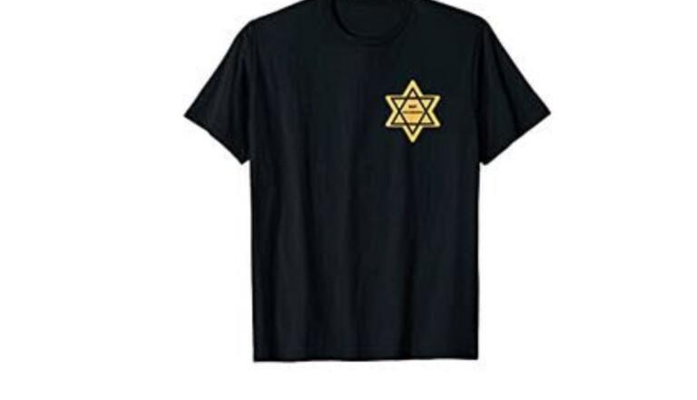 """Amazon met en vente un t-shirt siglé d'une étoile jaune et de la mention """"not vaccinated"""""""