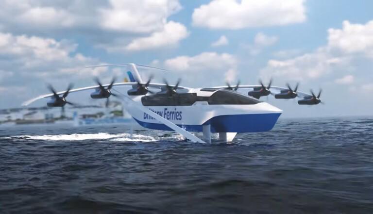 """Une compagnie annonce un """"bateau volant"""" ultra-rapide et écologique entre la France et l'Angleterre"""