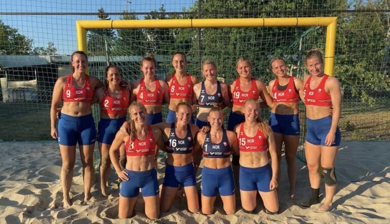 Les joueuses norvégiennes de beach handball sanctionnées pour avoir refusé une tenue sexiste